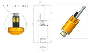 B-drop mini microvalve