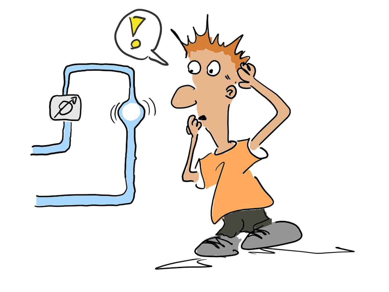 Gasblasen im Duchflusssensor